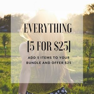 5 for $25 JEWELRY SALE MIX AND MATCH